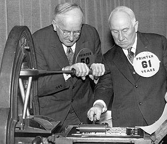 E.D. Stair and Charles J. Esterling at press