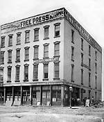 Free Press office at Griswold and Woodbridge