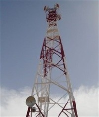 RTA Farah's new transmitter tower, photo courtesy USAID, Internews