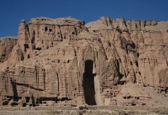 Big Buddha niche, Bamiyan Cliff (photo by AKTC)